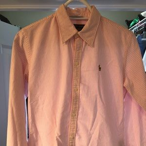 Ralph Lauren - pink stripped button up